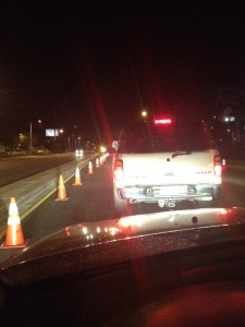 DUI Checkpoint in Santa Clarita.