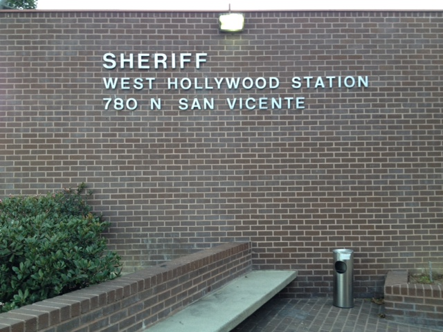 West Hollywood Sheriff. Photo, SCV Bail Bonds